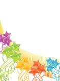 Shiny celebration background with stars Royalty Free Stock Image