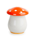 Shiny ceramic pot in the shape of mushroom Royalty Free Stock Image