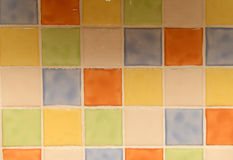 Shiny ceramic square kitchen tiles Royalty Free Stock Images