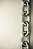 Shiny chain background. Copy space for text Stock Image