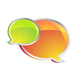 Shiny Chat Boxes Royalty Free Stock Images