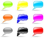 Shiny chat set vector Royalty Free Stock Image