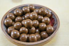 Shiny chocolate balls Stock Image