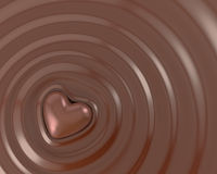 Shiny chocolate heart Stock Photography