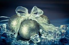 Shiny christmas ball decoration Stock Images