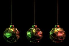 CHRISTMAS BALL SET 20 royalty free stock photography