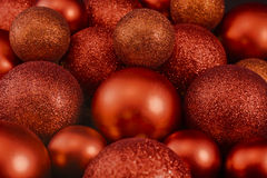 Shiny Christmas balls. Many different sizes of red shiny Christmas balls Stock Image