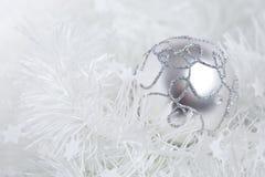 Shiny christmas bauble. On white christmas decoration Royalty Free Stock Photography