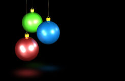 Shiny Christmas baubles Royalty Free Stock Images