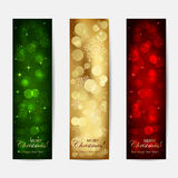 Shiny Christmas cards Stock Photography