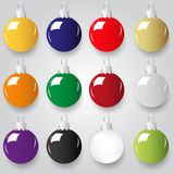 Shiny christmas decoration color small baubles Royalty Free Stock Images
