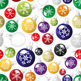 Shiny christmas decoration with snowflake seamless pattern eps10 Royalty Free Stock Images