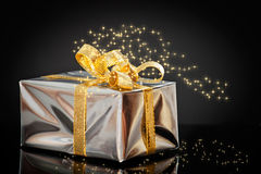 Shiny Christmas Gift Stock Images