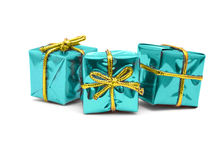 Shiny christmas gifts Stock Photo