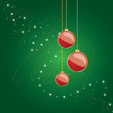 Shiny Christmas Globes Royalty Free Stock Photos