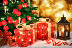 Shiny Christmas scene Royalty Free Stock Images