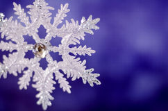 Shiny Christmas snowflake close-up. stock image