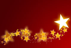 Shiny christmas star background Stock Photo