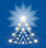 Shiny Christmas tree Royalty Free Stock Photography