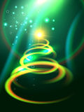 Shiny christmas tree Royalty Free Stock Images