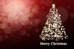 Shiny Christmas Tree Royalty Free Stock Image