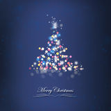 Shiny Christmas Tree Card Royalty Free Stock Photography