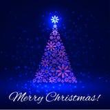 Shiny Christmas tree Royalty Free Stock Photography