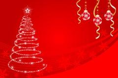 Shiny Christmas tree - EPS10 Royalty Free Stock Photos