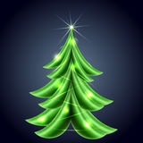 Shiny Christmas tree Stock Images