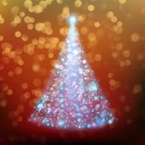 Shiny Christmas Tree. Holiday template. EPS 10 vector Royalty Free Stock Image