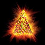 Shiny christmas tree light Stock Image