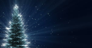 Shiny Christmas Tree stock video footage
