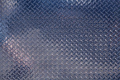 Shiny Chrome Diamond Plate Stock Photography