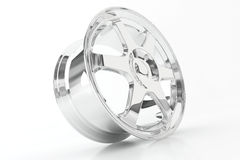 Shiny chrome rim. Stock Photography