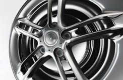 Shiny chrome rim. Shiny chrome rim, luxury spare part, look expensive Stock Photography
