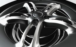 Shiny chrome rim. Stock Photos