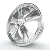 Shiny chrome rim. Royalty Free Stock Images