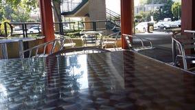 Shiny chrome seating Stock Image