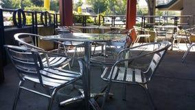 Shiny chrome seating Stock Images