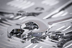 Shiny chrome wrenches Stock Photo