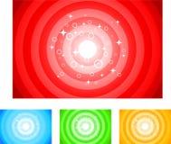 Shiny circle backgrounds Stock Image