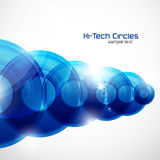 Shiny circles abstract futuristic background Stock Image