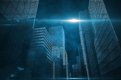Shiny cityscape Stock Photography