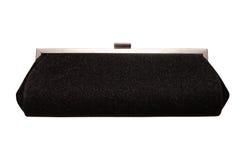 Shiny classical handbbag, black evening clutch, Stock Photography