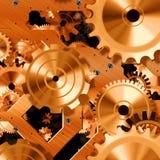 Shiny clock parts Stock Photo