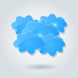 Shiny Cloud Group Card Royalty Free Stock Photos