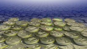 Shiny coin Stock Photos