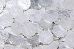 Shiny coins background Royalty Free Stock Images