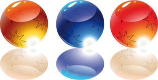Shiny color balls Stock Image