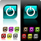 Shiny color button set with seven color variation.  Royalty Free Stock Photography
